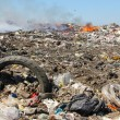Pollution, dumping of garbage - Stock Photo