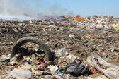 Pollution, dumping of garbage — Stock Photo
