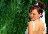 Bride in the wedding day — Stock Photo