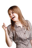 Girl laughing — Stock Photo