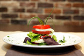Caprese on plate — Stock Photo