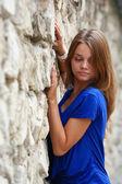 Jong meisje poseren — Stockfoto