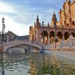 Plaza de Espana on Seville - Stockfoto