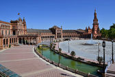 Hemycicle Plaza de Espana on Seville — Стоковое фото
