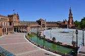 Hemycicle plaza de espana op sevilla — Stockfoto