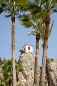 Belfry behind Palm Trees — Stock Photo
