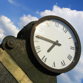 Old clock outdoor — Stock Photo