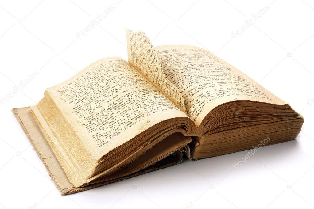 Page Livre Ancien Ancien Livre Ouvert Avec Une