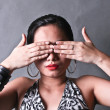 Stock Photo: Lady Covering Eyes