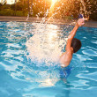 Water Splash Boy — Stockfoto