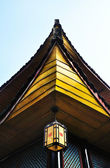 Chinese Temple Detail with Lantern — Stock Photo