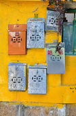 Metal Postboxes, Cheung Chau, Hong Kong — Stock Photo