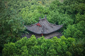 Tiled Roof in the Park, Hangzhou, China — Stock Photo