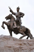 Genghis Khan, Sukhbaatar Square, Ulaanbaatar — Stock Photo