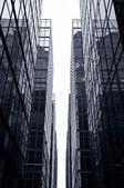 Glass Office Skyscrapers, Hong Kong — Stockfoto