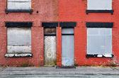 Derelict Terraced Housing — Stock Photo