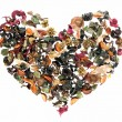 Heart made of flowers - Stock Photo