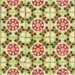 Detail of Portuguese green glazed tiles — Stock Photo #9391183