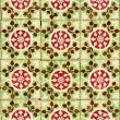 Detail of Portuguese green glazed tiles — Stock Photo