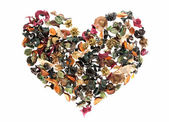 Heart made of flowers — Stock Photo