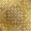 Stock Vector: Seamless golden damask wallpaper