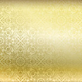 Seamless golden damask wallpaper — Stock Vector