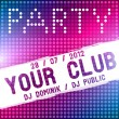 Royalty-Free Stock Vector Image: Party flyer vector template