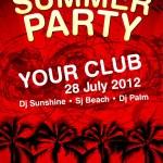 Summer Party flyer vector template — Stock Vector #10386746
