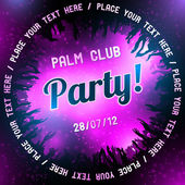 Pink Party flyer vector template — Stock Vector