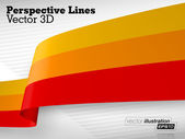 3D Vector Perspective Lines — Stock Vector