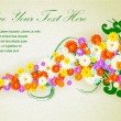 Stockvector : Flower vector background