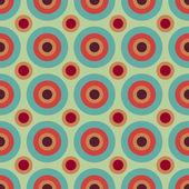 Sömlös retro cirklar bakgrund — Stockvektor