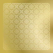 Golden damask wallpaper — Stock Vector