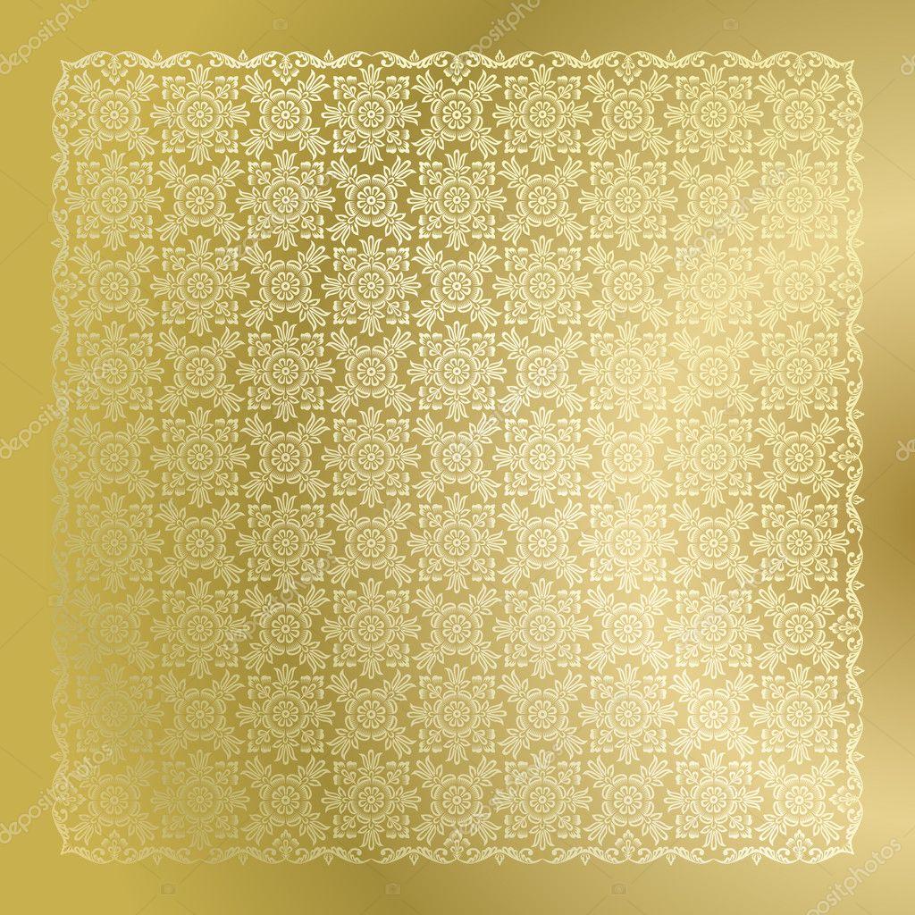 Papel de parede adamascado dourado vetor de stock for Papel de pared dorado