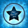 Blue vector star background — Stock Vector