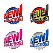 Nueva colección! etiquetas comerciales ingleses y alemanes — Vector de stock