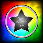 Colorful vector star background — Stok Vektör