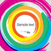 Abstract hand drawn watercolor pastel rainbow — Stock Vector