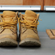 Old work boots — Stock Photo