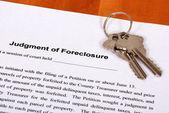 Foreclosure form & Housekeys — Photo