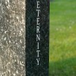 Stock Photo: 'Eternity' gravestone