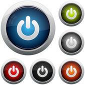 Power button icon set — Stock Vector