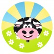 Vector cow — Stock Vector