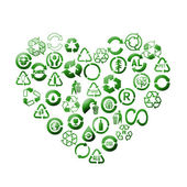 Recycle heart — Stock Photo