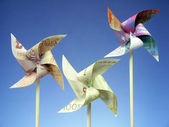 Money toy windmills — Foto de Stock