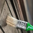 Royalty-Free Stock Photo: Maintaining of wooden surfaces