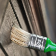 Foto de Stock  : Maintaining of wooden surfaces