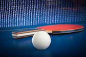 Equipment for table tennis — Stockfoto