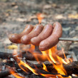 Baked  sausage — Stock Photo