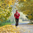 Stock Photo: Jogging in park
